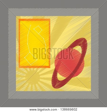flat shading style icon education astronomy lesson