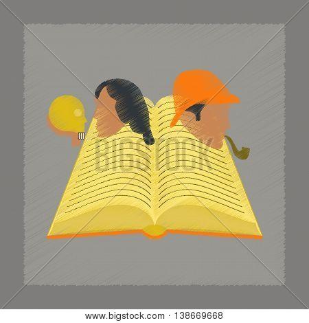 flat shading style icon education book classics