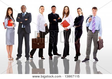 businessteam isolated on white background