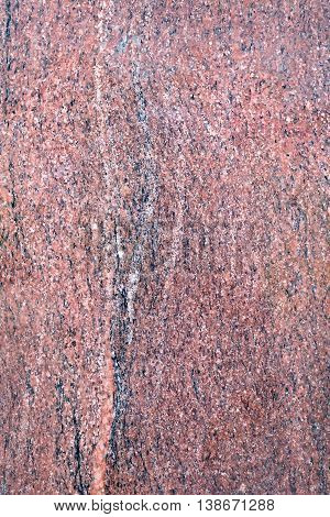 The texture of the treated brown granite