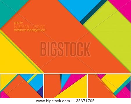 Vector Abstract background with material design style. Suitable for website and mobile application background