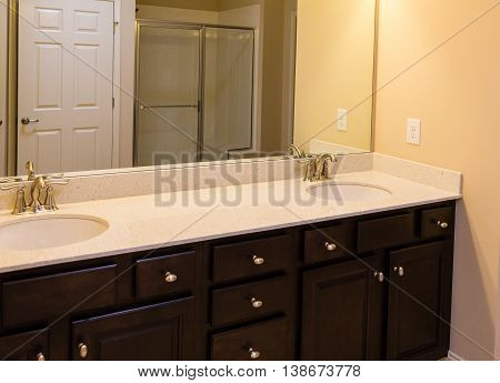 A Cultured Marble Vanity in new bathroom
