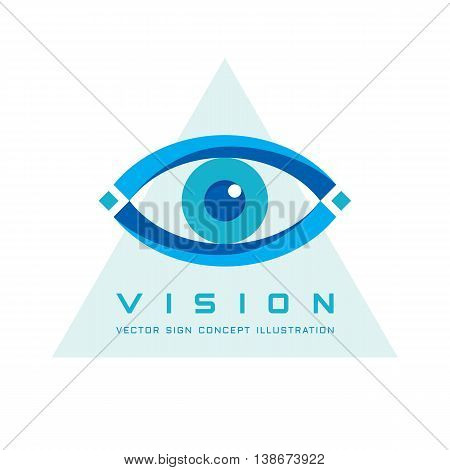 Vision - vector logo template concept illustration. Human eye abstract sign. Design element.