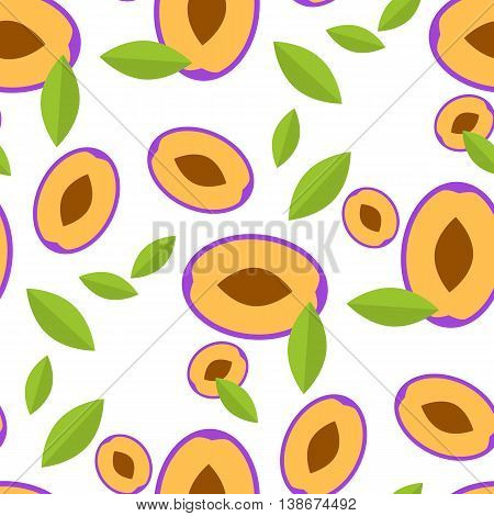 Vector Illustration of the seamless background with plum.