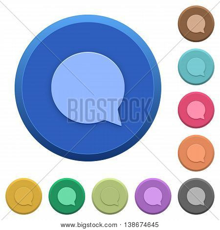 Set of round color embossed chat buttons