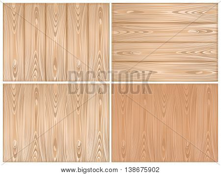 Set of wooden backgrounds. Wood texture for you design. Vector illustration