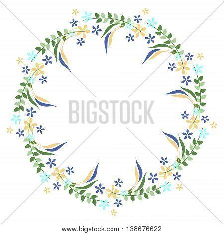 Vector Floral Decorative Frame