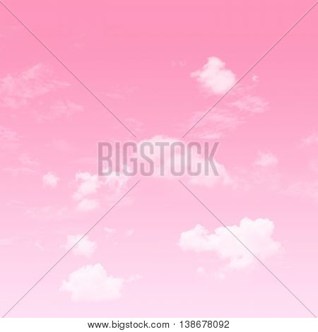 The Pink sky Valentine and white cloudy