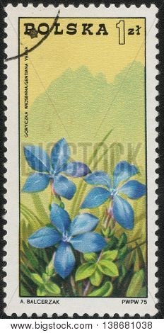 POLAND - CIRCA 1975: Postage stamp printed in Poland shows a series of images
