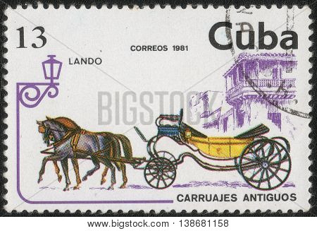 CUBA - CIRCA 1981: Postage stamp printed in Cuba shows a series of images