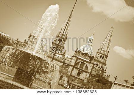A beautiful Monuments of Guadalajara Jalisco Mexico