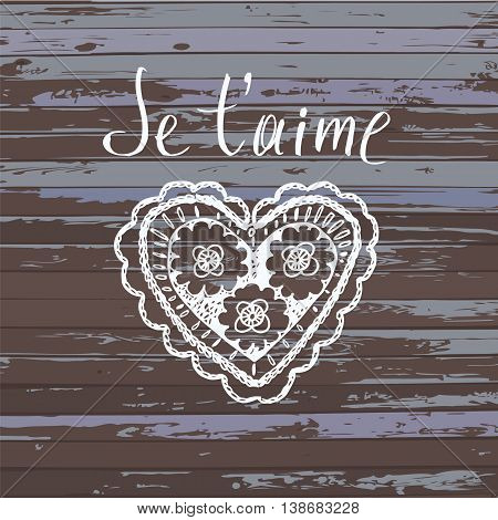 Declaration Of Love In French.