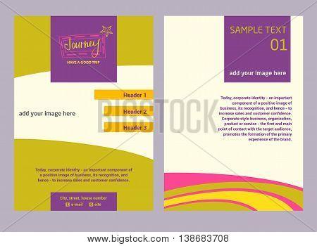 Illustration Flyer For Advertising Tourism Companies, Tour Opera