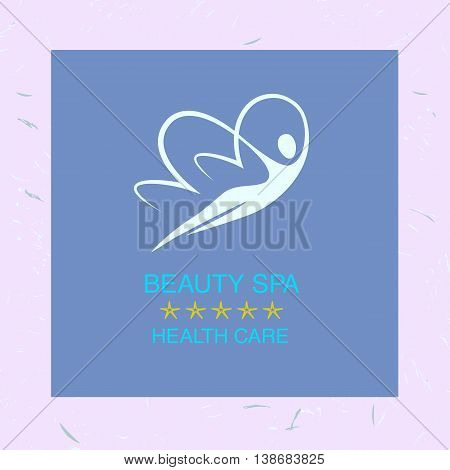 Vector Logo For Spa, Beauty And Relaxation Treatments. Women But