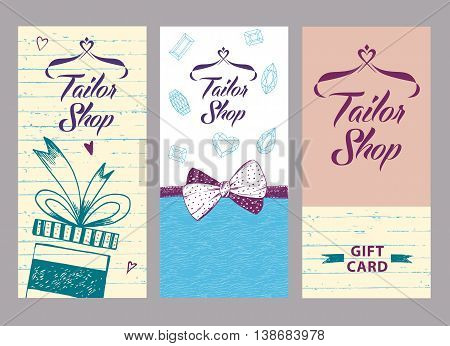 Vector Logo On Color Background For Salon Tailoring. Illustratio