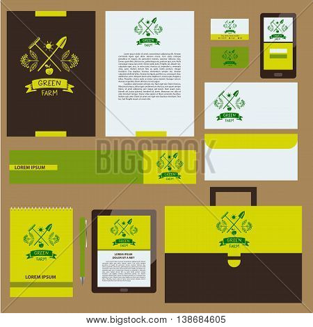 Green Farm. Corporate Identity For Agriculture, Horticulture. Br
