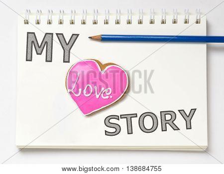 My love Story ring binder Book Diary writing