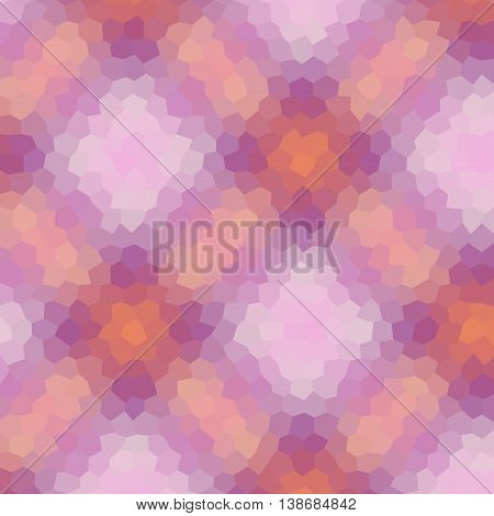 Tartan Low Poly Hexagon Style Vector Mosaic Background