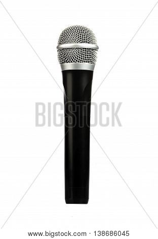 a wireless microphone on a white background isolated