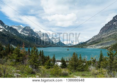 St. Mary Lake in Glacier National Park Montana