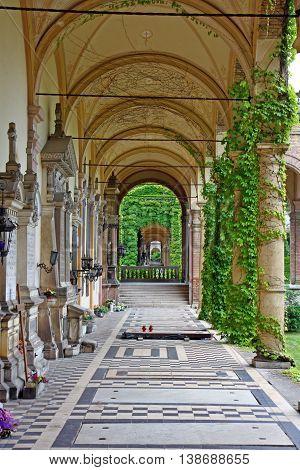 Last resting place of many famous Croatians Mirogoj Arcade Zagreb Croatia