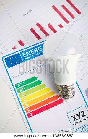 Led Light Bulb On Energy Efficiency Chart