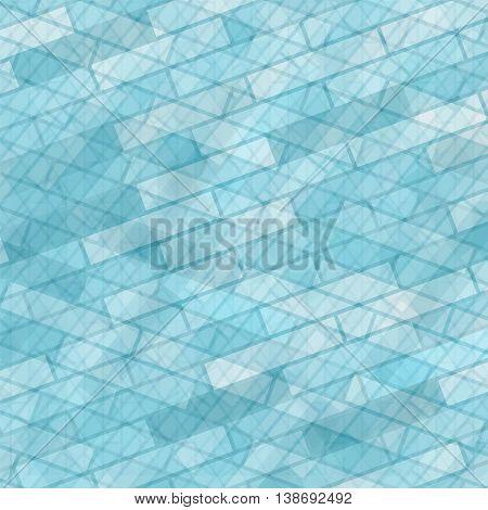 Brick Wall Azure Background. Abstract Stone Pattern