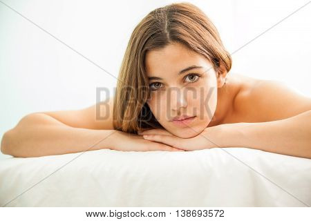 Beautiful Young Woman Relaxing At A Spa