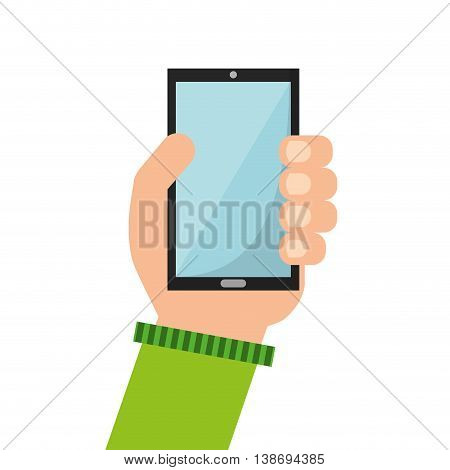 smartphone hand icon touchscreen phone illustration vector