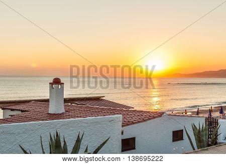 Sunset On The Beach Of Platamona