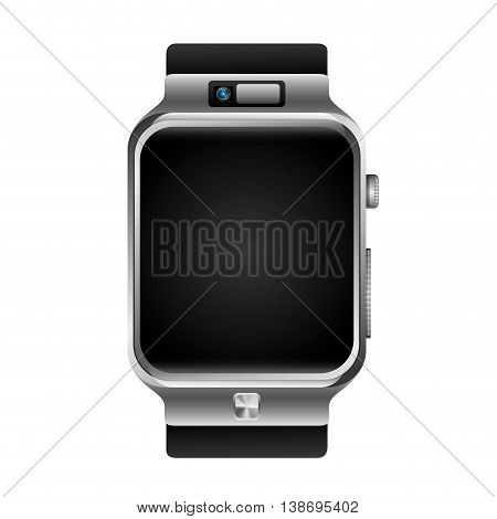 digital wristwatch in blank background, vector illustration