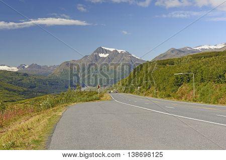 Richardson Highway at Thompson Pass near Valdez Alaska