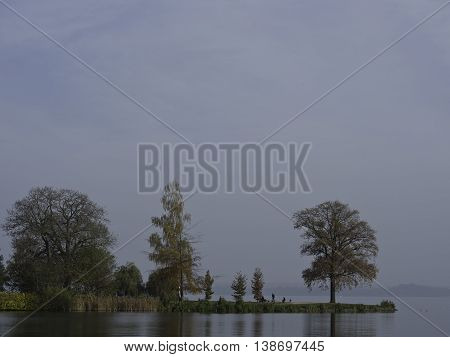 the lake and the Castle of schwering in germany