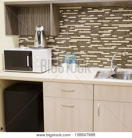Interior of a little kitchen