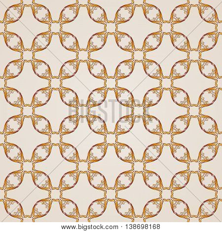 Saturated seamless abstract floral pattern in the form of vine