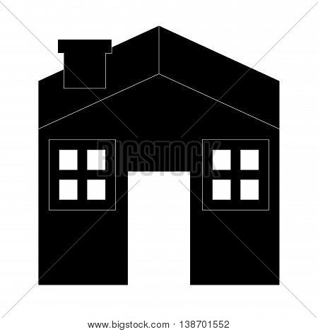 house silhouette icon residential home vector illustration