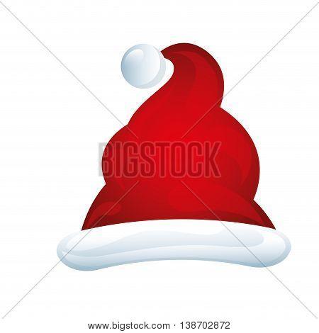 merry chrismas icon hat illustration design vector