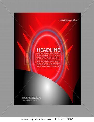 Red, black Abstract Flyer Design. booklet catalog brochure folder