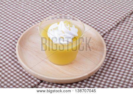 Mango Pudding,thai Dessert