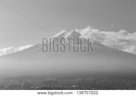 Black and White, Fuji Mount., Natural landscape background
