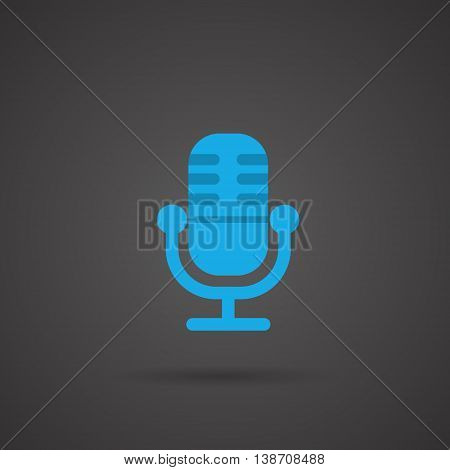 This is a vector illustration of Vector Media Icon - Radio microphone