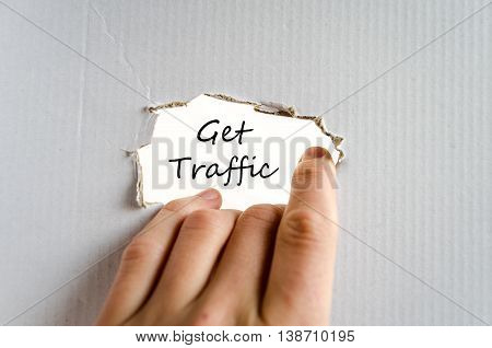 Get traffic text concept isolated over white background