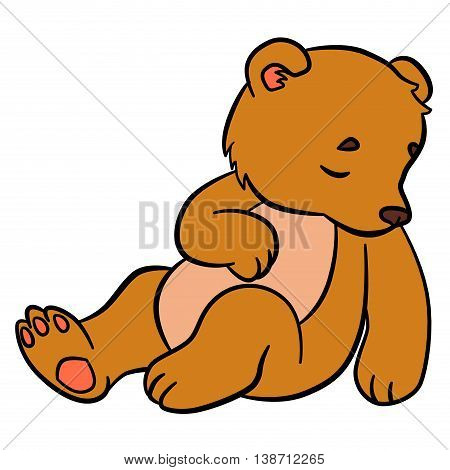 Cartoon Animals For Kids. Little Cute Baby Bear.