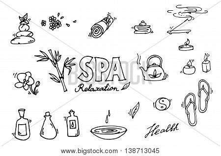 Spa icons set. Relax. Vector illustration EPS 10