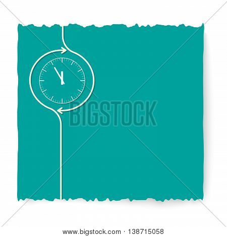 Green slip of paper and white watches