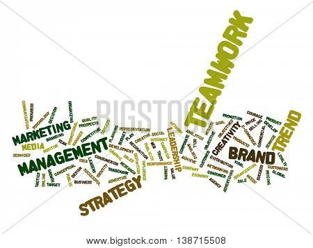 High resolution concept or conceptual abstract success word cloud or wordcloud isolated on background