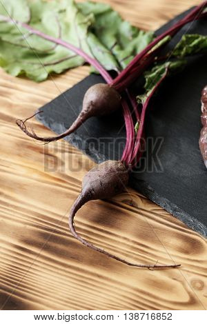 Vegetable. Beetroot on the table