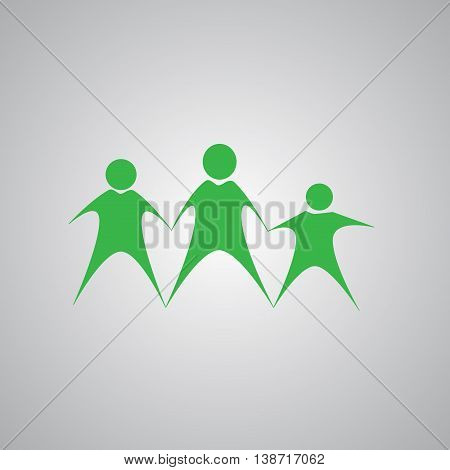 Family Icon in trendy flat style isolated on grey background. Parents symbol for your web site design, logo, app