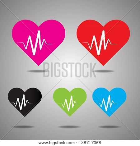 Heart Rate, heart icon, backgound, logo, health