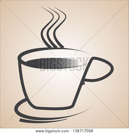 Coffee cup icon, logo, backgound, cafe logo